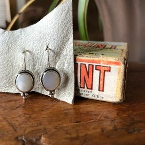 Jewelry - sterling silver and mother of pearl earrings